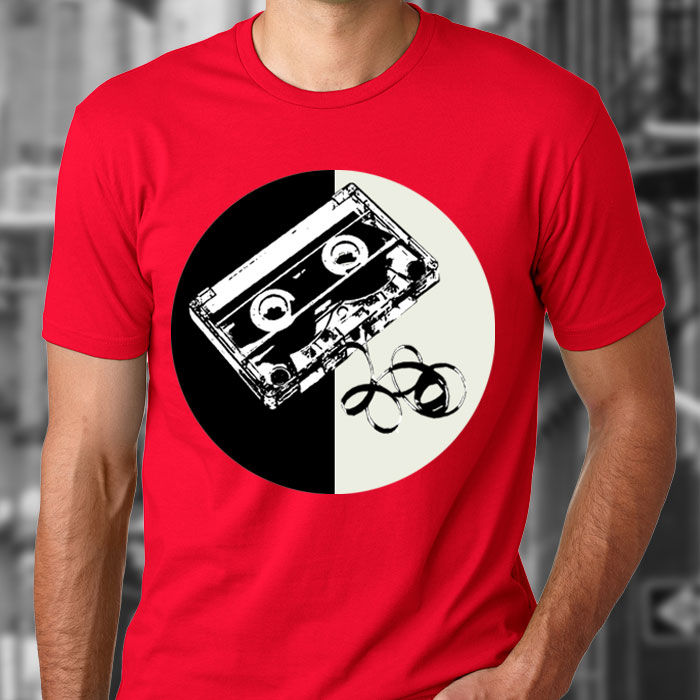 """""""Cassette"""" 100% cotton unisex T-shirt from New York-based online retailer Bang! Bang! Flip. Available in sizes S-XL. $50 donationSOLD   @bangbangflip"""