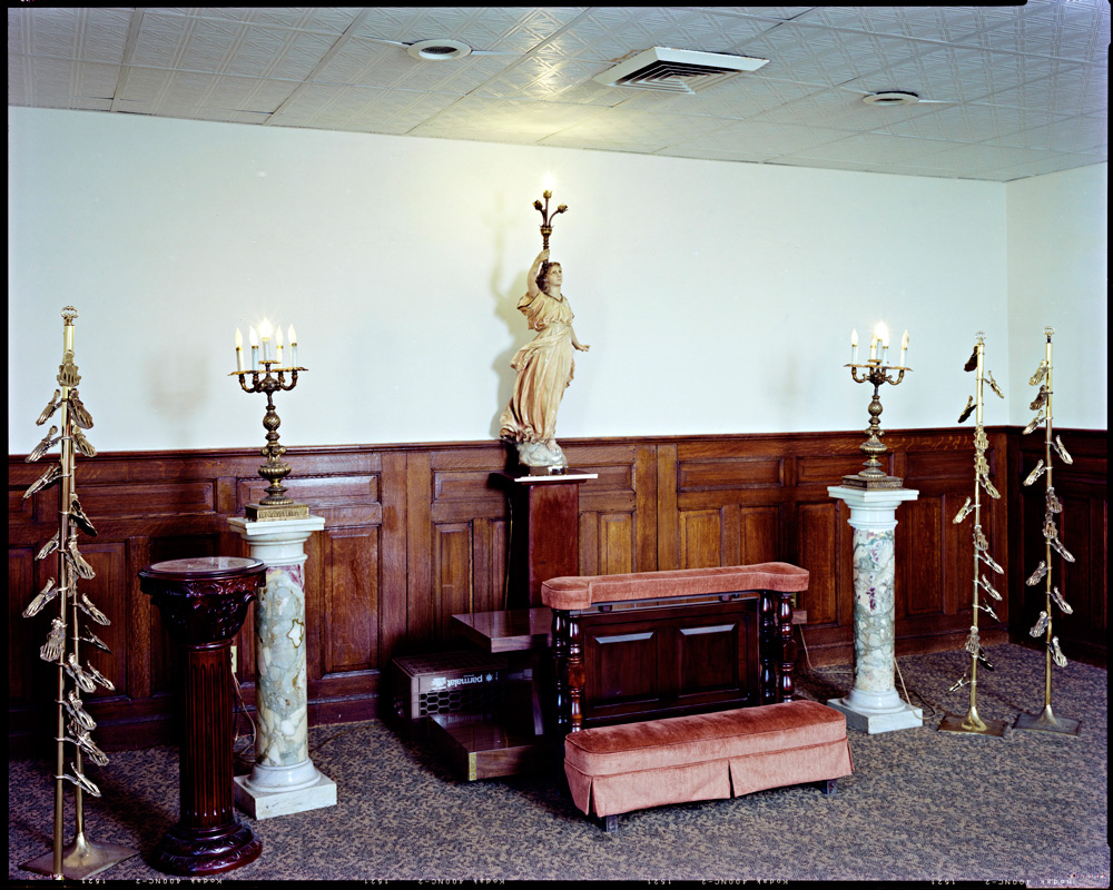 Viewing room, Raccuglia and Son Funeral Home, Brooklyn, 2008, by Larry RacioppoVisit Larry's website