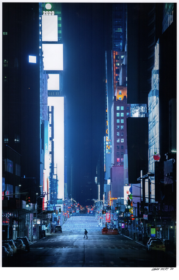 "Midtown New York by Logan Hicks. 11""x14"" archival digital print, signed.  $200 donationSOLD 