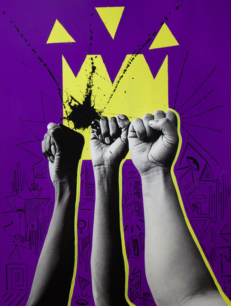 """Power of We"" by Nichole Washington. 8""x10"" archival digital print, signed. $200 donationClick here  @nicholawola"