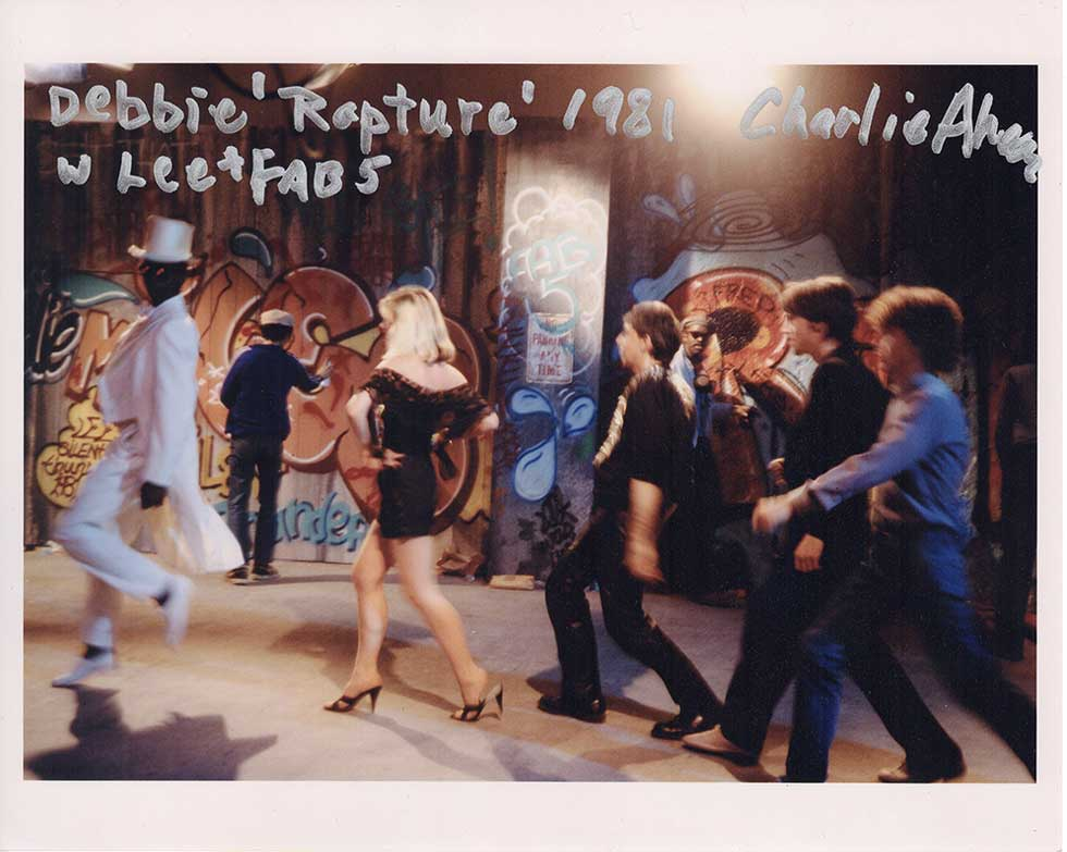"""Debbie Harry, """"Rapture"""" with Lee Quinones and Fab Five Freddy, 1981, by Charlie Ahearn. 8""""x10"""" archival digital print, signed. $200 donationSOLD  @twincharlie"""