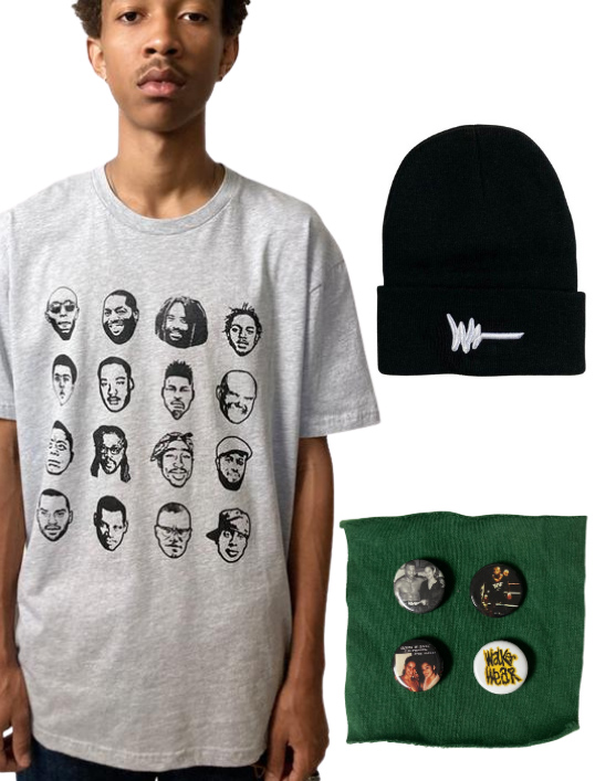 Freedom Fighter T-shirt, Black WW beanie, Pin Pack (Pieces of a Dream) from Walker Wear. $50 donationClick here