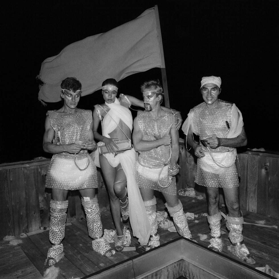 Four on deck at a Star Wars party, Fire Island Pines, NY, 1977