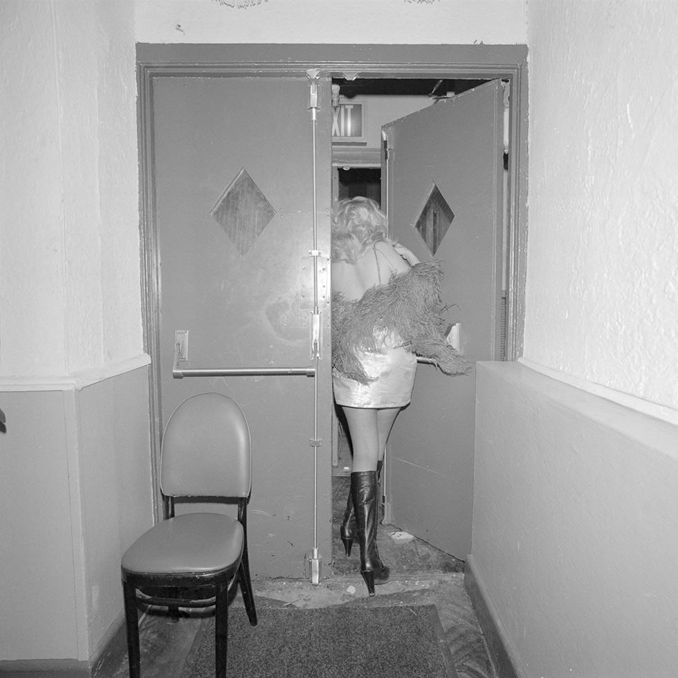 Exit door, COYOTE Hookers' Masquerade Ball, Copacabana, New York City, 1977