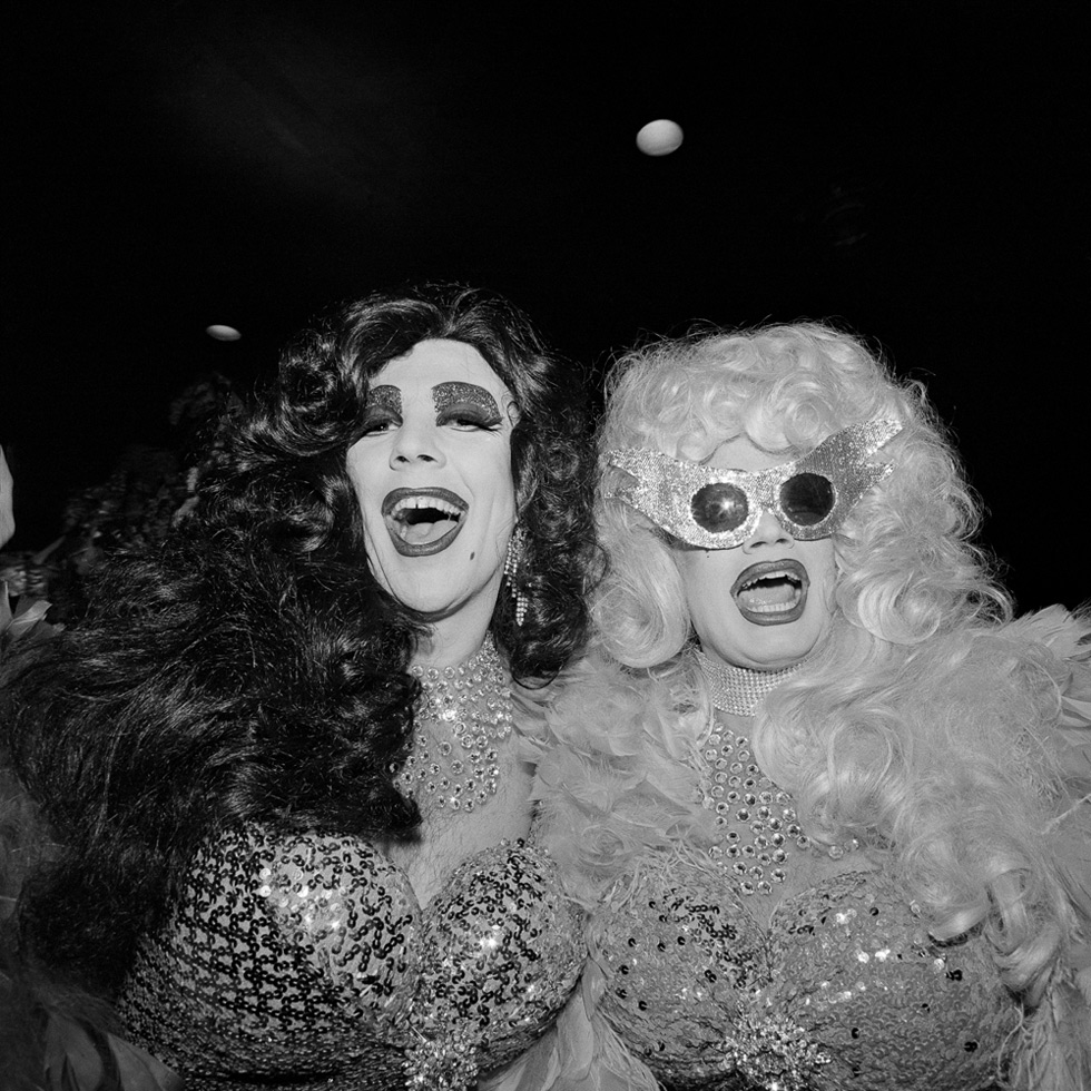Two Queens at the COYOTE Hookers' Masquerade Ball, Copacabana, New York City, 1977