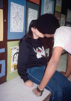 Bunnies Classroom Kiss, IS 291, Bushwick, Brooklyn, NY, 1984